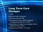 long term care changes