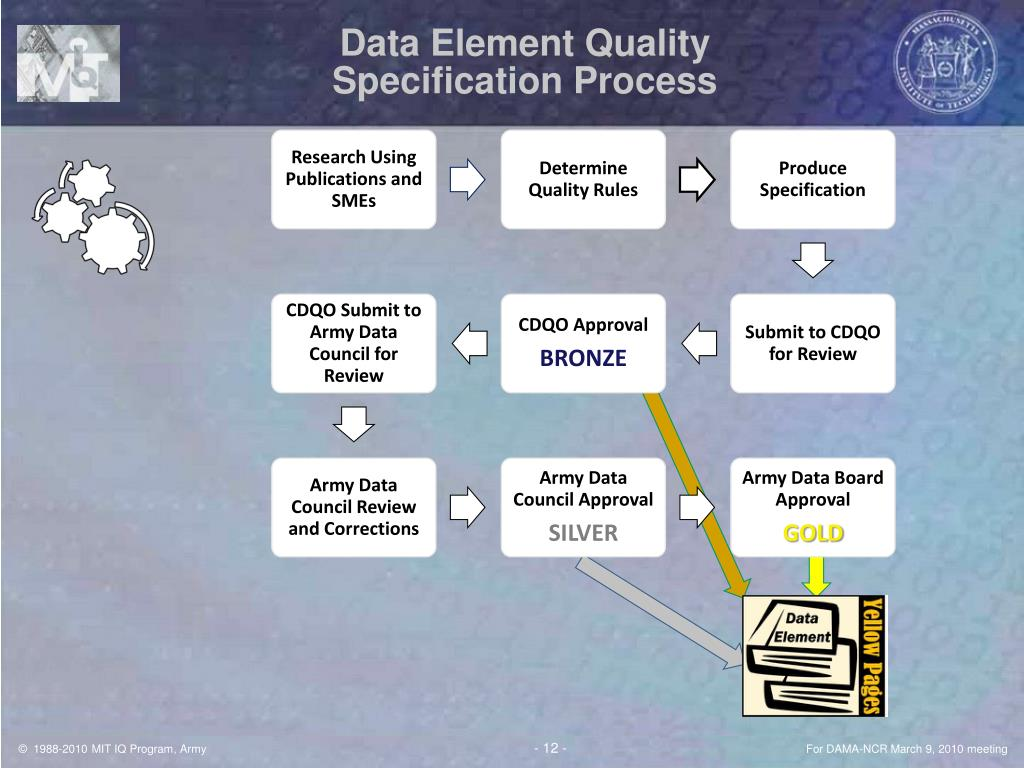 Data Element Quality Specification Process