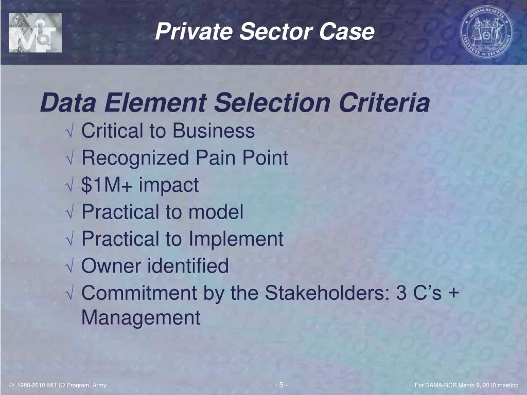Private Sector Case