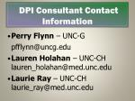 dpi consultant contact information