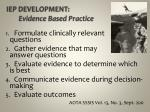 iep development evidence based practice