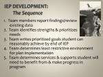 iep development the sequence