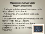 measurable annual goals major components