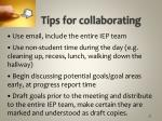 tips for collaborating