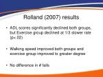 rolland 2007 results