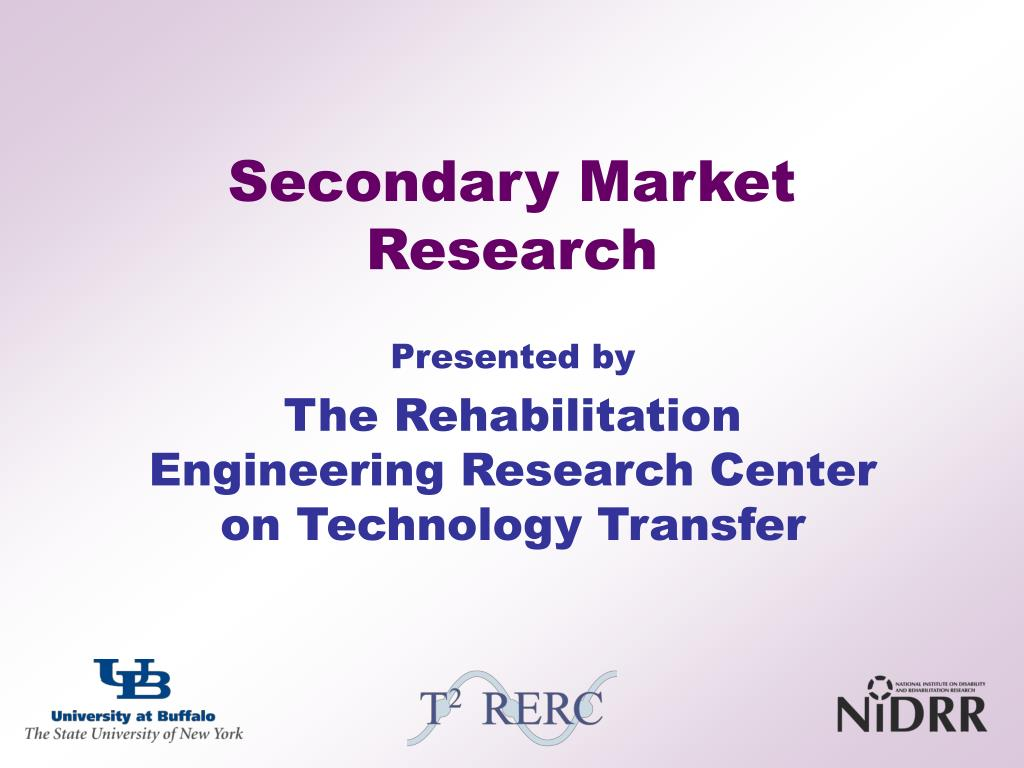 secondary market research l.
