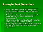 example test questions