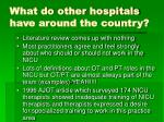 what do other hospitals have around the country