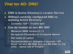 vital for ad dns