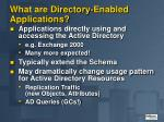 what are directory enabled applications