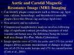 aortic and carotid magnetic resonance image mri imaging