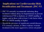 implications on cardiovascular risk stratification and treatment jnc vi