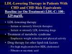 ldl lowering therapy in patients with chd and chd risk equivalents1