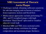 mri assessment of thoracic aorta plaque