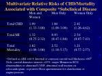 multivariate relative risks of chd mortality associated with composite subclinical disease
