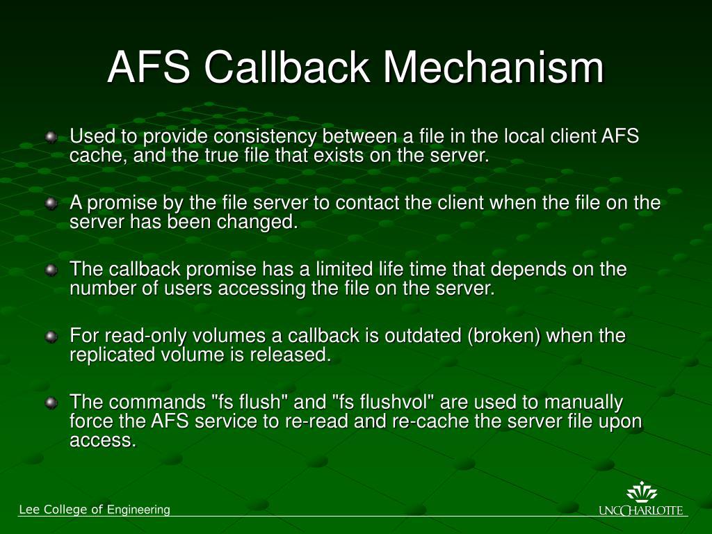 AFS Callback Mechanism