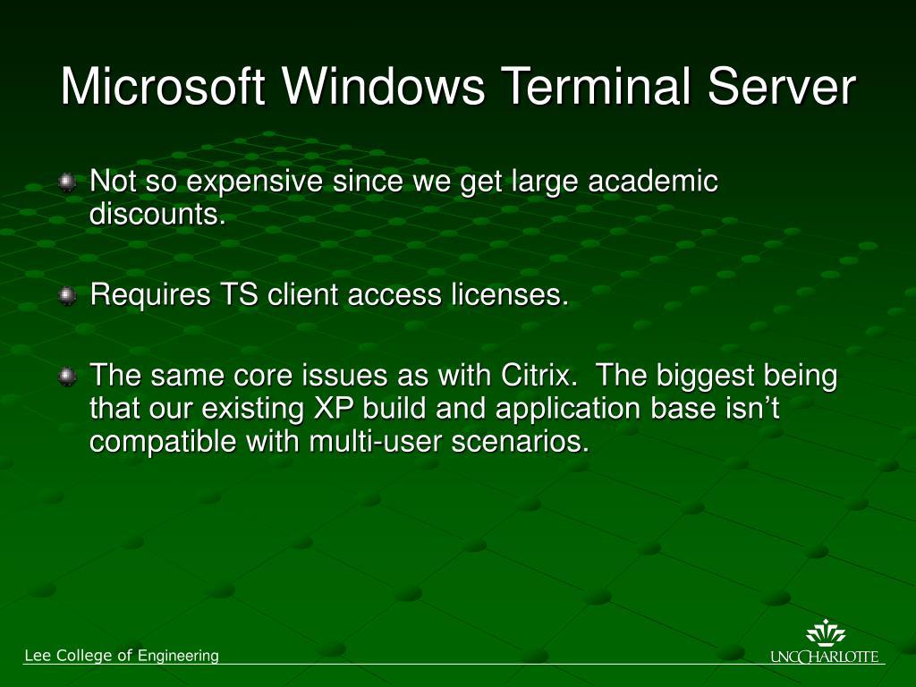 Microsoft Windows Terminal Server