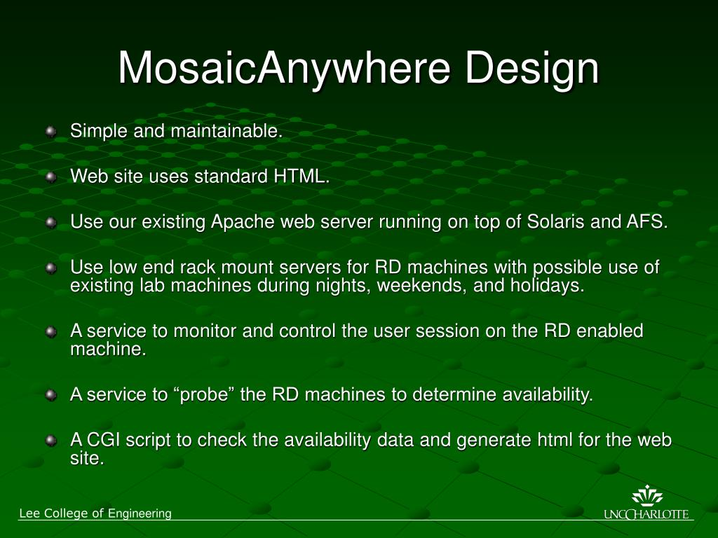 MosaicAnywhere Design