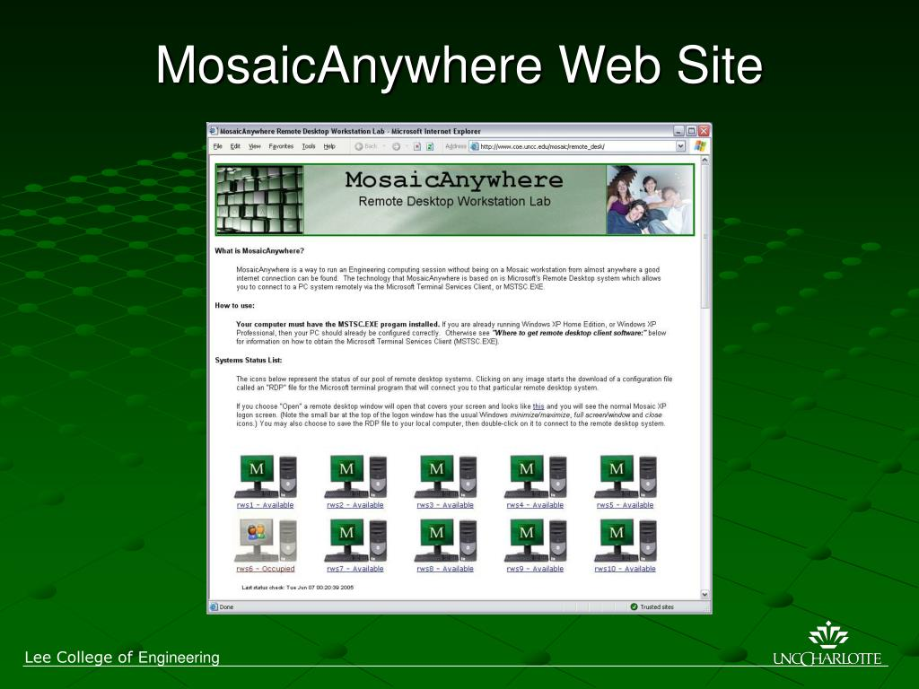 MosaicAnywhere Web Site
