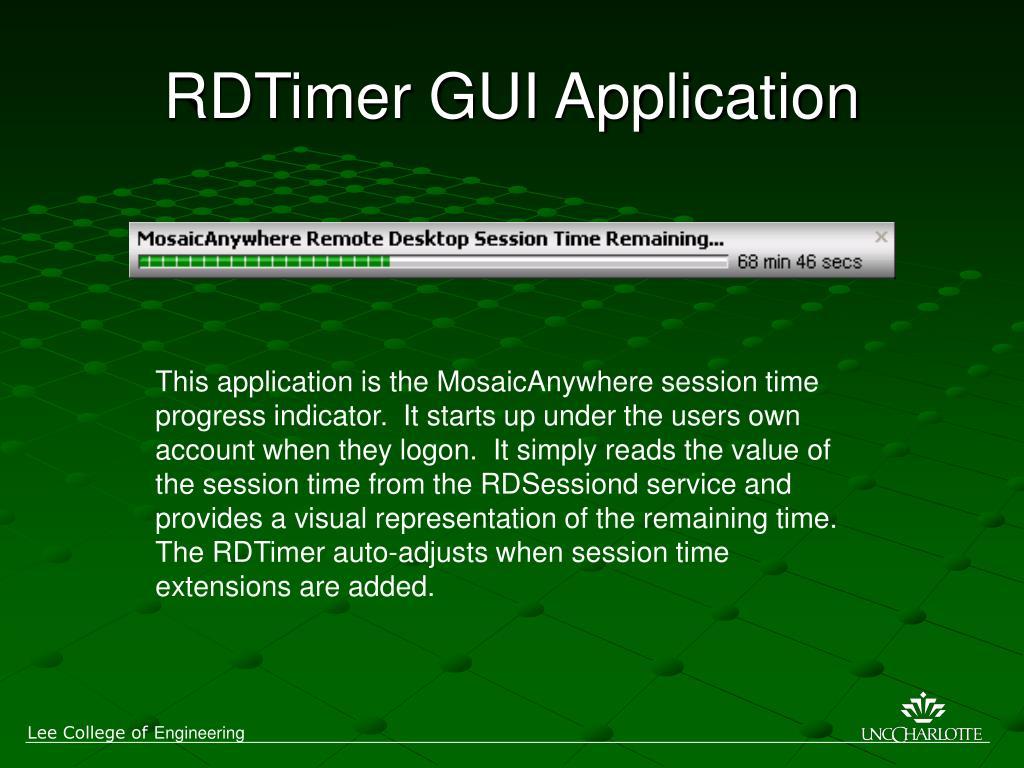 RDTimer GUI Application