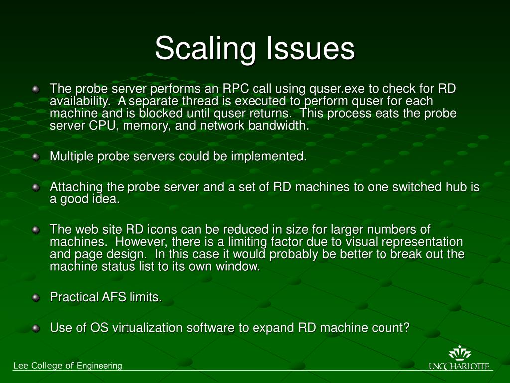 Scaling Issues