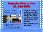introduction to the ol 600 nvg12