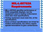 mil l 85762a requirements