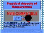 practical aspects of measurement15