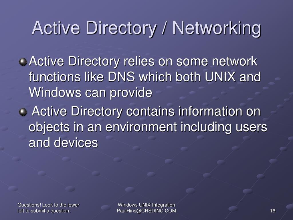 Active Directory / Networking
