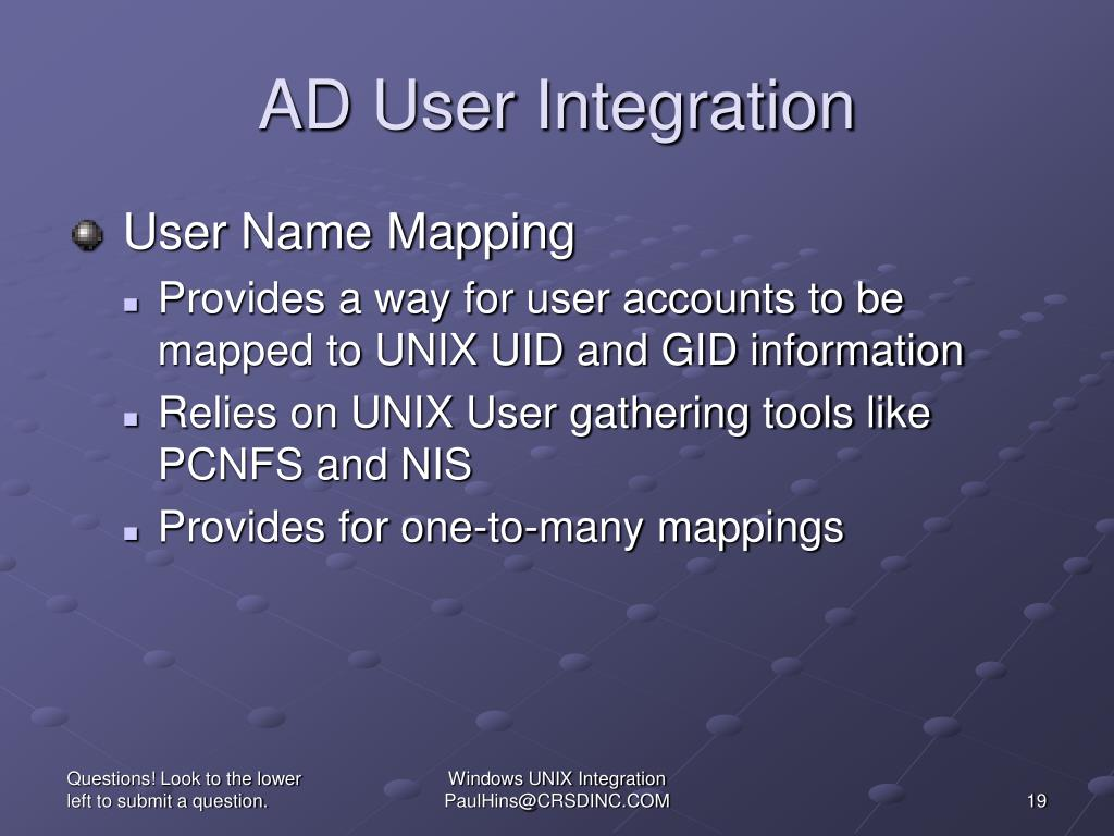 AD User Integration