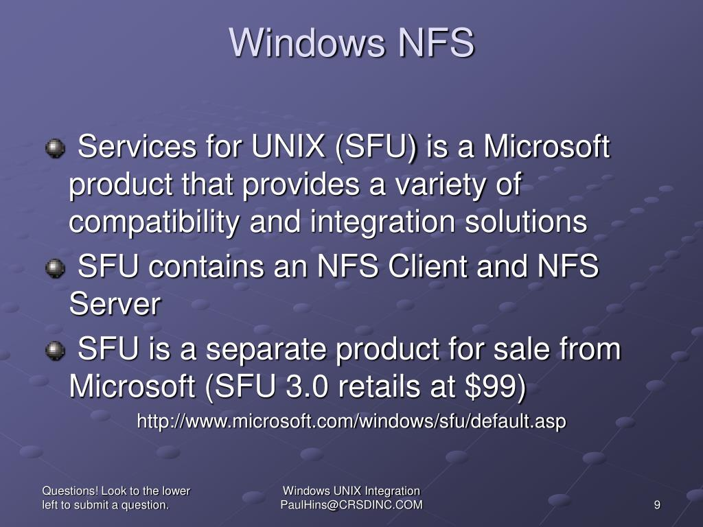 Windows NFS