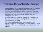 pitfalls of the continuity equation29