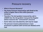 pressure recovery