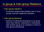 in group inter group relations7