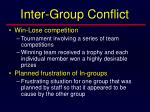 inter group conflict