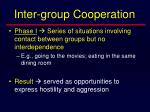 inter group cooperation