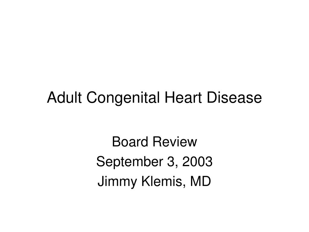 adult congenital heart disease l.