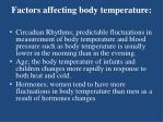 factors affecting body temperature