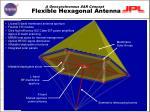 flexible hexagonal antenna