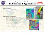 sar science applications
