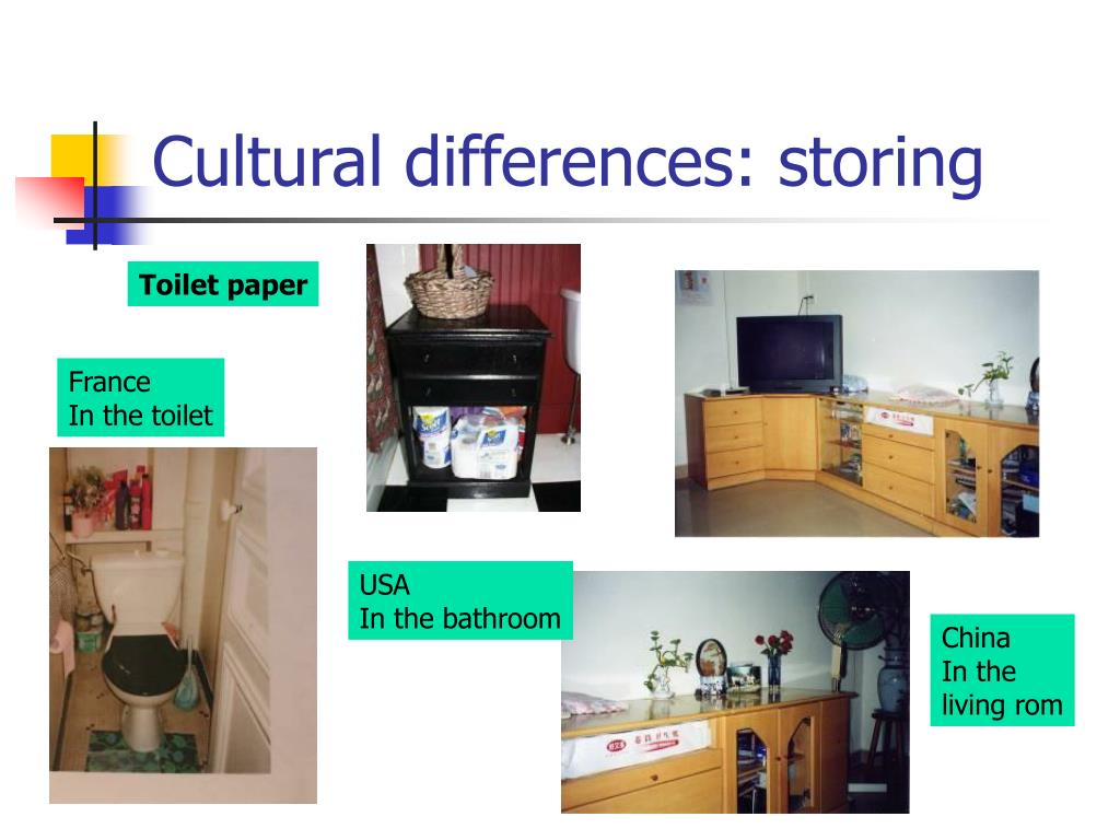 Cultural differences: storing