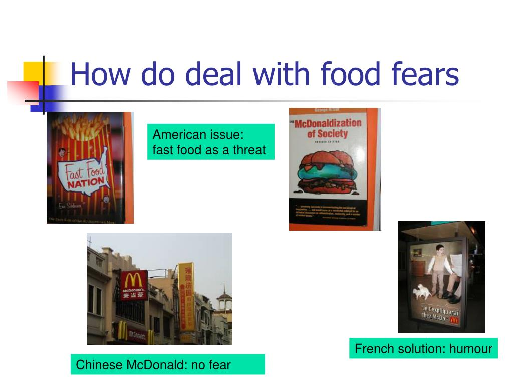 How do deal with food fears