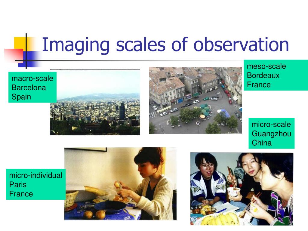 Imaging scales of observation