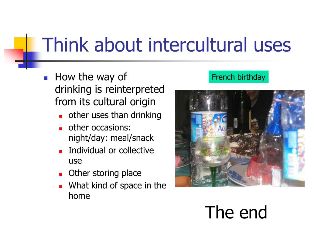 Think about intercultural uses