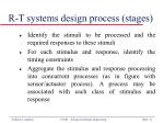 r t systems design process stages