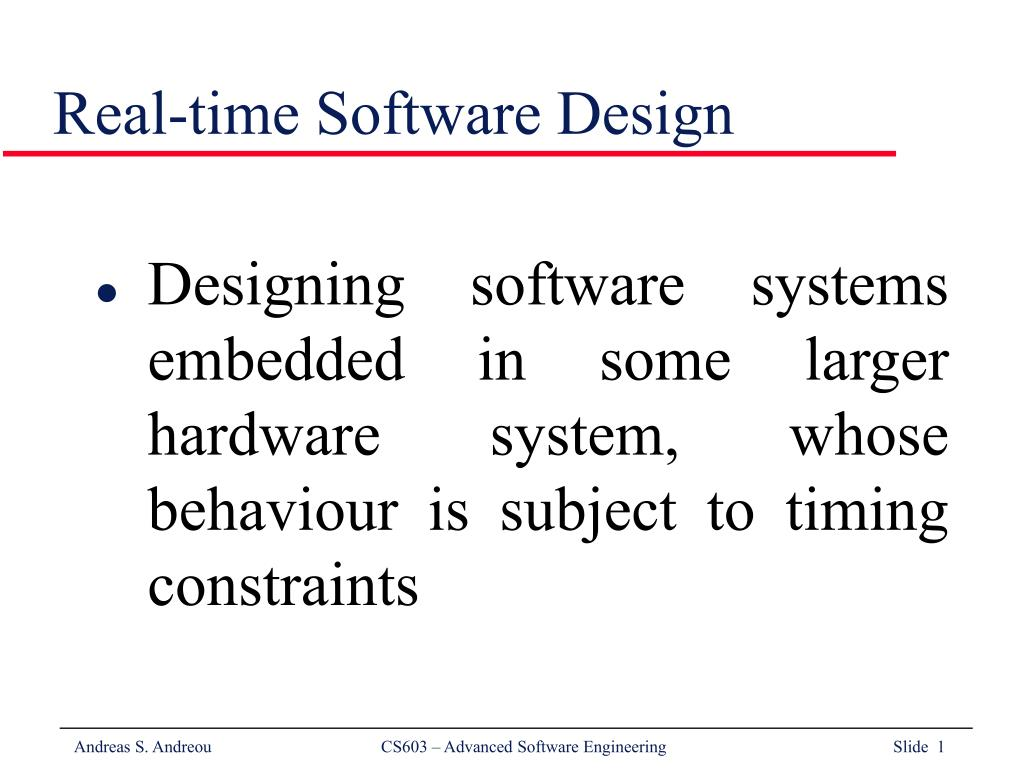 real time software design l.