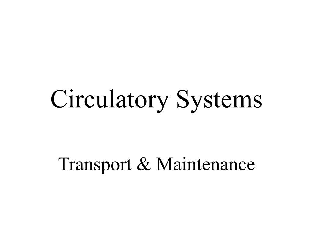 circulatory systems l.