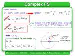 complex fs