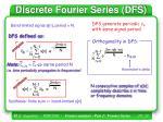 discrete fourier series dfs