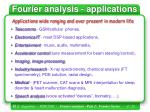 fourier analysis applications